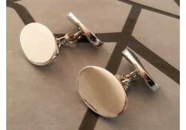 Hallmarked extra heavy sterling silver cufflinks, 24grams in weight complete with box