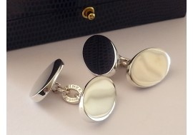 """Links of London"" Heavy hallmarked sterling silver cufflinks"