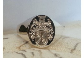 "The ""Burger"" Family crest ring, hand crafted to perfection"