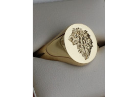"""""""The Lions Head Seal Ring"""" Crafted entirely by hand by The Master Hand Engraver"""