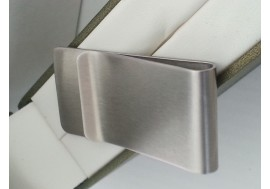 "Hand made with ""passion""  Robust Stainless steel money clip"