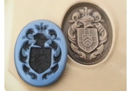 """""""Sardonyx"""" hand engraved stone supplied Hand engraved with your crest or monogram"""