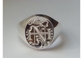 Custom Design heavyweight sterling silver signet ring