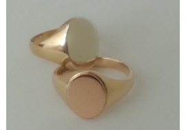 The Traditional Combination Rose, white, yellow gold and platinum (cuff links also)