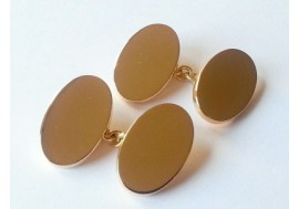 9ct Gold classic oxford oval cufflinks, fully hallmarked, 1.5mm thick, 20x13 ovals