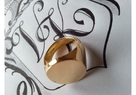 "18ct  "" Classic Oxon Signet Ring""  1oz in weight (extra large men)"